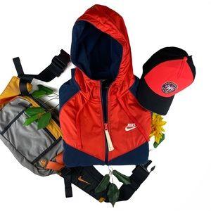 NIKE Full Zip Fleece Tech Hooded Sweat Jacket Med